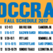 Fall Schedule Updates