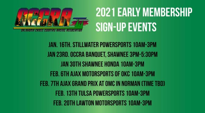 2021 Early Membership Sign-Up Events